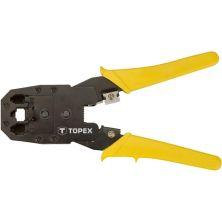 Инструмент Topex для обжима наконечников 4P, 6P, 8P (32D409)