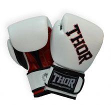 Боксерские перчатки THOR Ring Star 14oz White/Red/Black (536/01(PU)WHITE/RED/BLK 14 oz.)