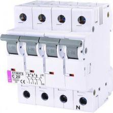 Автоматический выключатель ETI Выключатель автоматический ETIMAT 6 3p + N C 20А (6 kA) (2146517)