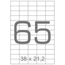 Этикетка самоклеящаяся TAMA 38х21,2 (65 на листі) с/кл (100листів) закруглені кути (17796)