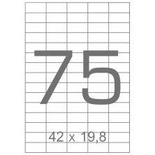 Этикетка самоклеящаяся TAMA 42х19,8 (75 на листі) с/кл (100листів) (17797)