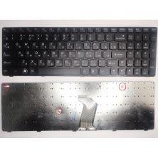Клавиатура ноутбука Lenovo IdeaPad B570/B580/B590/V570/Z570 черная с черной рамкой RU (25-012632/25-12619/9Z.N5SSC.006/9Z.N5SSW.B1E/B5BSW 1E)