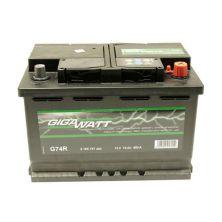Аккумулятор автомобильный GIGAWATT 74А (0185757404)