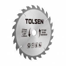 Диск Tolsen пильный с ТВС напайками по дереву 185х40Т*30мм (76431)