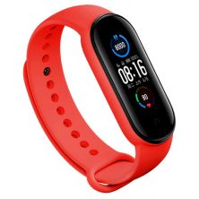Ремешок для фитнес браслета BeCover Silicone для Xiaomi Mi Smart Band 5 Red (705071)