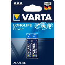 Батарейка Varta LONGLIFE Power Alkaline LR03 * 2 (04903121412)