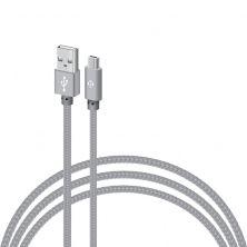 Дата кабель USB 2.0 AM to Micro 5P 1.0m CBGNYM1 grey Intaleo (1283126477676)
