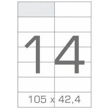 Этикетка самоклеящаяся TAMA 105х42,4 (14 на листі) с/кл (100листів) (17787)