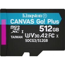 Карта памяти Kingston 512GB microSDXC class 10 UHS-I/U3 Canvas Go Plus (SDCG3/512GBSP)