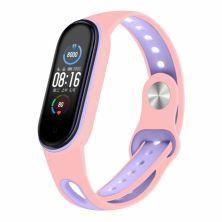 Ремешок для фитнес браслета BeCover Sport Style для Xiaomi Mi Smart Band 5 Pink-Purple (705172)
