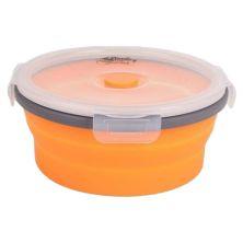 Пищевой контейнер Tramp складной с крышкой-защелкой 550ml (TRC-088-orange)