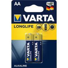 Батарейка Varta AA Longlife LR6 * 2 (04106101412)