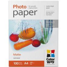 Бумага ColorWay A4 220г matte 100л (PM220100A4)