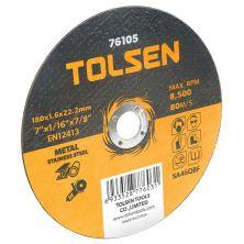 Круг отрезной Tolsen по металлу/нержавейке 125х1.2*22.2мм (76103)