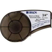 Лента для принтера этикеток Brady растворяющиеся, лента 19.05mm/6.4m, черный на белом (M21-750-403)