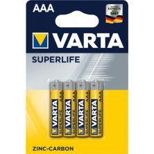 Батарейка Varta SUPERLIFE Zinc-Carbon R03 * 4 (02003101414)