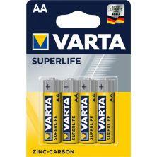 Батарейка Varta AA SUPERLIFE Zinc-Carbon R6 * 4 (02006101414)