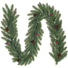 Украшение декоративное Black Box Trees Гирлянда Creston Frosted 180 см Зеленая (8718861153019)