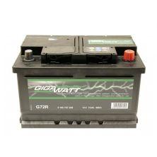 Аккумулятор автомобильный GIGAWATT 72А (0185757209)