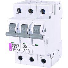 Автоматический выключатель ETI Выключатель автоматический ETIMAT 6 3p C 63А (6 kA) (2145522)