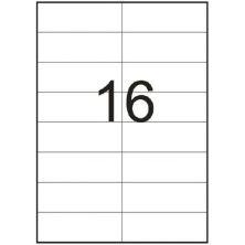 Этикетка самоклеящаяся TAMA 98,5х34 (16 на листі) с/кл (100листів) закруглені кути (18738)